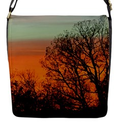 Twilight Sunset Sky Evening Clouds Flap Messenger Bag (s)