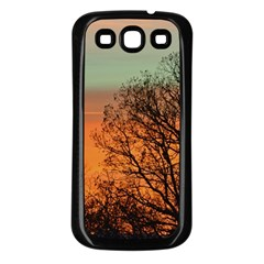 Twilight Sunset Sky Evening Clouds Samsung Galaxy S3 Back Case (black)