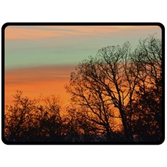 Twilight Sunset Sky Evening Clouds Double Sided Fleece Blanket (large)