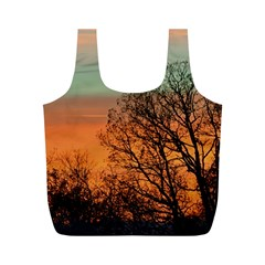 Twilight Sunset Sky Evening Clouds Full Print Recycle Bags (m)