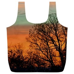 Twilight Sunset Sky Evening Clouds Full Print Recycle Bags (l)