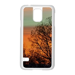 Twilight Sunset Sky Evening Clouds Samsung Galaxy S5 Case (white)