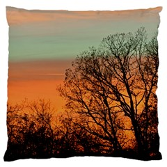 Twilight Sunset Sky Evening Clouds Large Flano Cushion Case (two Sides)