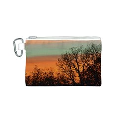 Twilight Sunset Sky Evening Clouds Canvas Cosmetic Bag (s)