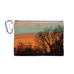 Twilight Sunset Sky Evening Clouds Canvas Cosmetic Bag (M)