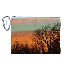 Twilight Sunset Sky Evening Clouds Canvas Cosmetic Bag (l)