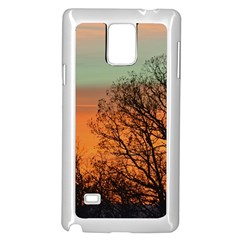 Twilight Sunset Sky Evening Clouds Samsung Galaxy Note 4 Case (white)