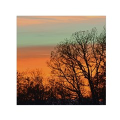 Twilight Sunset Sky Evening Clouds Small Satin Scarf (square)
