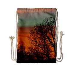 Twilight Sunset Sky Evening Clouds Drawstring Bag (small)