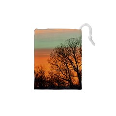 Twilight Sunset Sky Evening Clouds Drawstring Pouches (xs)