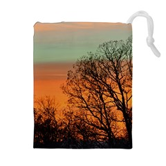 Twilight Sunset Sky Evening Clouds Drawstring Pouches (extra Large)