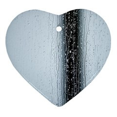 Rain Raindrop Drop Of Water Drip Ornament (Heart)
