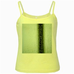 Rain Raindrop Drop Of Water Drip Yellow Spaghetti Tank