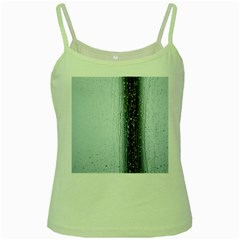 Rain Raindrop Drop Of Water Drip Green Spaghetti Tank