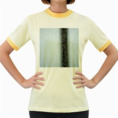 Rain Raindrop Drop Of Water Drip Women s Fitted Ringer T Shirts