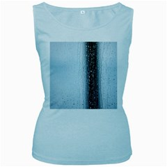 Rain Raindrop Drop Of Water Drip Women s Baby Blue Tank Top