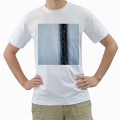 Rain Raindrop Drop Of Water Drip Men s T Shirt (white) (two Sided)