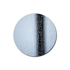 Rain Raindrop Drop Of Water Drip Rubber Round Coaster (4 Pack)