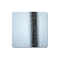 Rain Raindrop Drop Of Water Drip Square Magnet