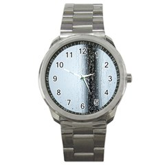 Rain Raindrop Drop Of Water Drip Sport Metal Watch