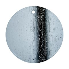 Rain Raindrop Drop Of Water Drip Round Ornament (two Sides)