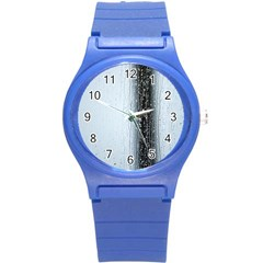 Rain Raindrop Drop Of Water Drip Round Plastic Sport Watch (s)
