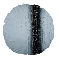 Rain Raindrop Drop Of Water Drip Large 18  Premium Round Cushions