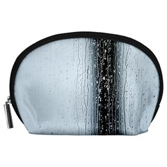 Rain Raindrop Drop Of Water Drip Accessory Pouches (large)