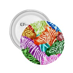 Zebra Colorful Abstract Collage 2 25  Buttons