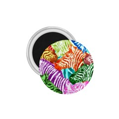 Zebra Colorful Abstract Collage 1 75  Magnets