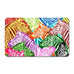 Zebra Colorful Abstract Collage Magnet (rectangular)