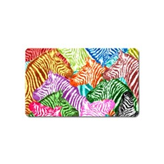 Zebra Colorful Abstract Collage Magnet (name Card)