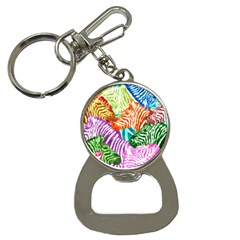 Zebra Colorful Abstract Collage Button Necklaces