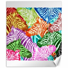 Zebra Colorful Abstract Collage Canvas 8  X 10