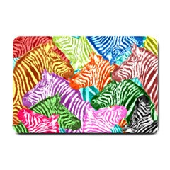 Zebra Colorful Abstract Collage Small Doormat