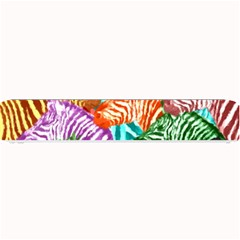 Zebra Colorful Abstract Collage Small Bar Mats