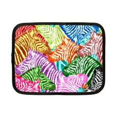 Zebra Colorful Abstract Collage Netbook Case (small)
