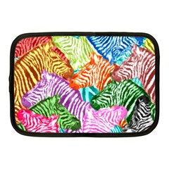 Zebra Colorful Abstract Collage Netbook Case (medium)