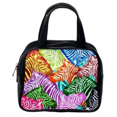 Zebra Colorful Abstract Collage Classic Handbags (one Side)