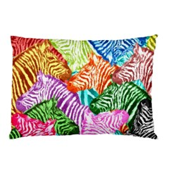 Zebra Colorful Abstract Collage Pillow Case