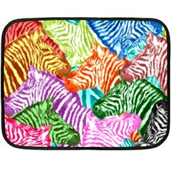 Zebra Colorful Abstract Collage Fleece Blanket (mini)