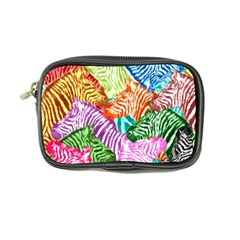 Zebra Colorful Abstract Collage Coin Purse