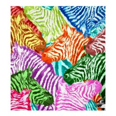 Zebra Colorful Abstract Collage Shower Curtain 66  X 72  (large)