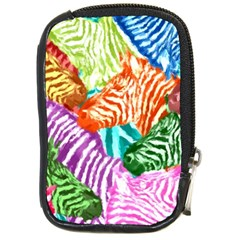 Zebra Colorful Abstract Collage Compact Camera Cases