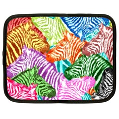 Zebra Colorful Abstract Collage Netbook Case (XL)