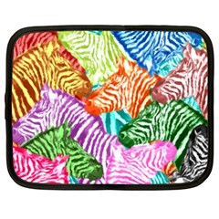 Zebra Colorful Abstract Collage Netbook Case (xxl)