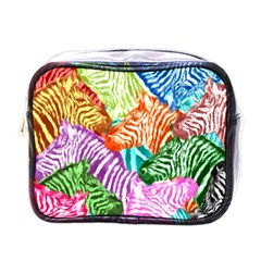 Zebra Colorful Abstract Collage Mini Toiletries Bags