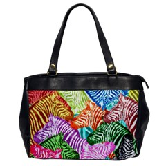 Zebra Colorful Abstract Collage Office Handbags