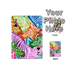 Zebra Colorful Abstract Collage Playing Cards 54 (mini)