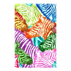 Zebra Colorful Abstract Collage Shower Curtain 48  X 72  (small)